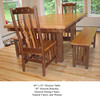 Table - Mission w/ Mission Benches and Chairs in Natural Cherry and Walnut
