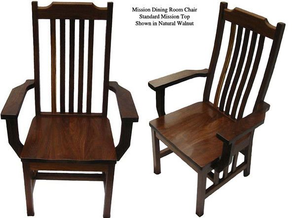 Mission Chair - Natural Walnut
