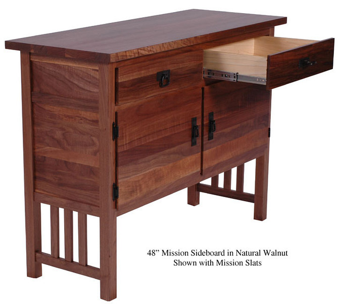 Sideboard -  Mission Sideboard in Natural Walnut