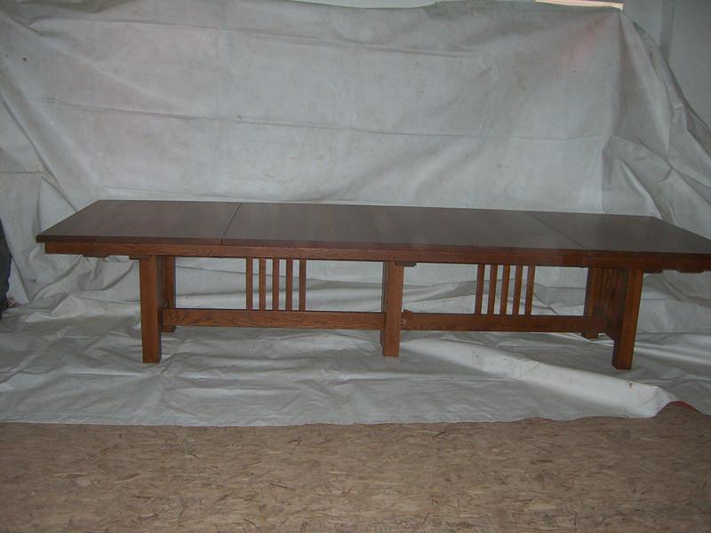 Custom Mission Table - Autumn Oak