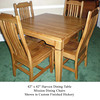 Table - Harvest in Finished Hickory w/ Mission Chairs