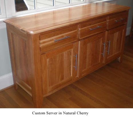 Shaker Server - Natural Cherry