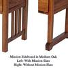 Sideboard - Slats in Medium Oak
