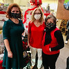 From left are Team Forever Young chairwoman Tammy Fannon and captain Nancy Cook of Westford, and Sun Santa coordinator Nancy Roberts of Westminster.