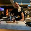 Bartender Jeff Mousseau of Dracut making a Campfire Rye