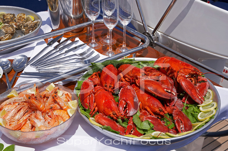 Lobsters and prawns