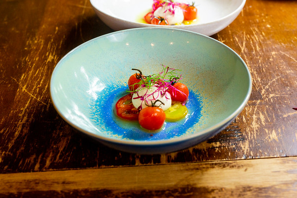 Confit Tomato | Goat Cheese Mousse | Parsley Oil