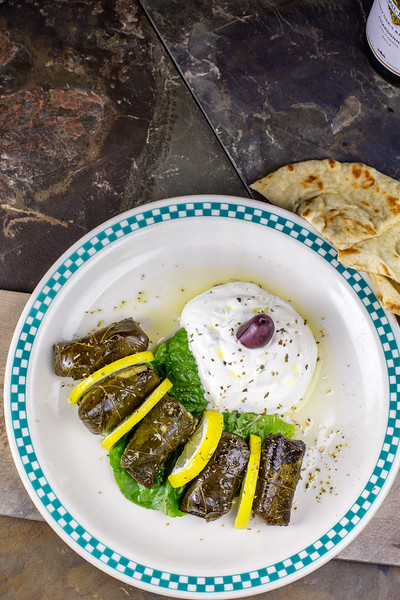 Dolmades (vegetarian grape leaves)