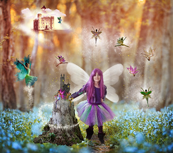 Purple girl fairies