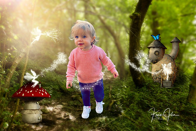 Fairies with baby in pink