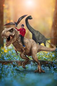 Dino boy with Dino Bird