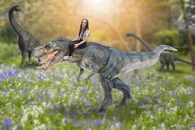 Leah on a Trex