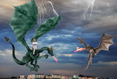 Boy and dragons tenby