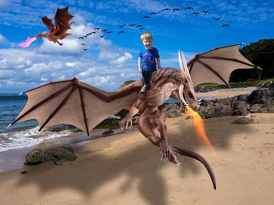 Beach boy on dragon