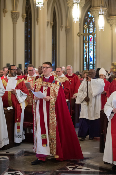 Garden City, NY: April 11, 2017-- Dean Michael Sniffen enter the Cathedral of the Incarnation for today's Chrism Mass.           © Audrey C. Tiernan
