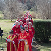 Garden City, NY: April 11, 2017--  Episcopal Diocese of Long Island clergy process from the Mercer School of Theology to The Cathedral of the Incarnation for today's Chrism Mass.           © Audrey C. Tiernan