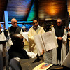 Abbatial blessing of new abbot, Father Gerard D'Souza, during July 30 Mass at the Abbey of the Genesee in Piffard. Father D'Souza replaces Father John Denburger.