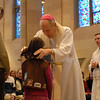 Bishop Matthew H. Clark made his annual presentation of religious scouting awards at Sacred Heart Cathedral Feb. 12.