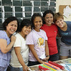 The women who work in the laboratory in San Carlos. The Diocese makes and sells herbal medications as a way of making money to sustain itself.