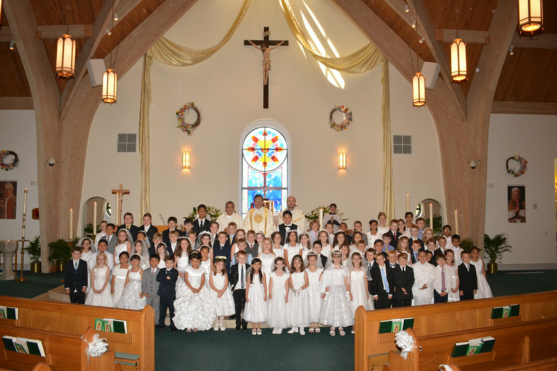 St. Bernadette Catholic Church First Holy Communion Mass, 5-10-2014