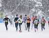 HOLLY PELCZYNSKI - BENNINGTON BANNER Women brave the cold, snow, and deeply packed trails of Prospect Mountain on Saturday in Woodford at the Senior Women's 10km National Snowshoe Championship during the  Dion Snowshoes U.S. National Snowshoe Championships.