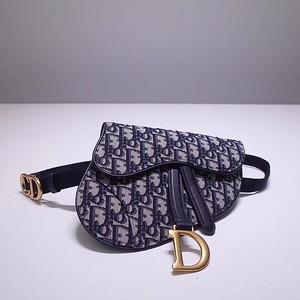 Blue Dior Oblique belt bag