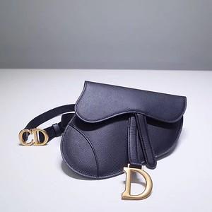 Blue leather Dior Oblique belt bag