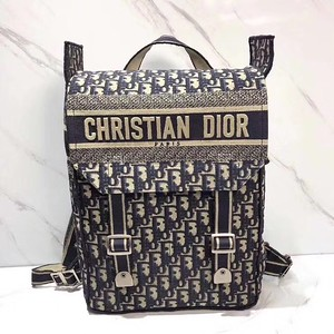 Backpack in blue Dior Oblique embroidered canvas   Reference M1293VRIW_M928