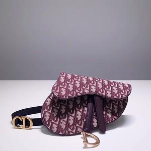 Red Dior Oblique belt bag