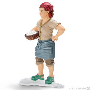 Schleich Farmers Wife with Basket of Eggs (13468)