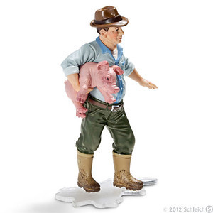 Schleich Farmer with Piglet (13467)