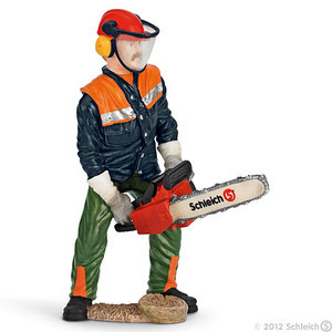 Schleich Forestry Worker with Chainsaw (13462)
