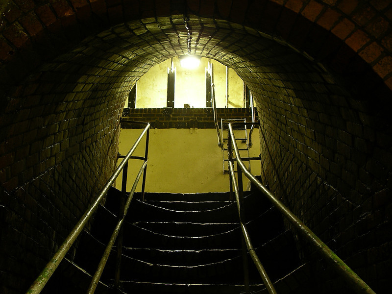 Pre-production location photo.  Photography: Nick Sneath Location: Brighton Sewers