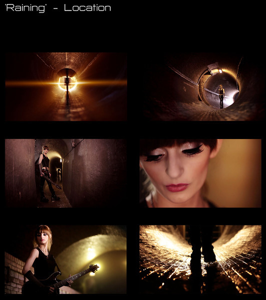 Stills from the location shoot from the music video 'Raining'  Cinematography: Dom Jones Directed by Nick Sneath Grading: Nick Sneath Location: Brighton Sewers