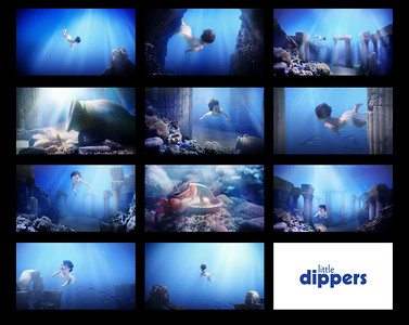 Stills from the 'Little Dipper' online commercial