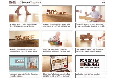 UK Flooring Direct Storyboard