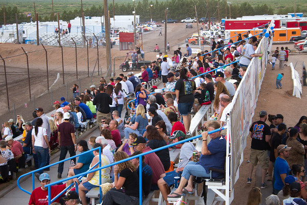 The pits were full as well as the stands for the 2012 Independence Day Show at The Speedway!