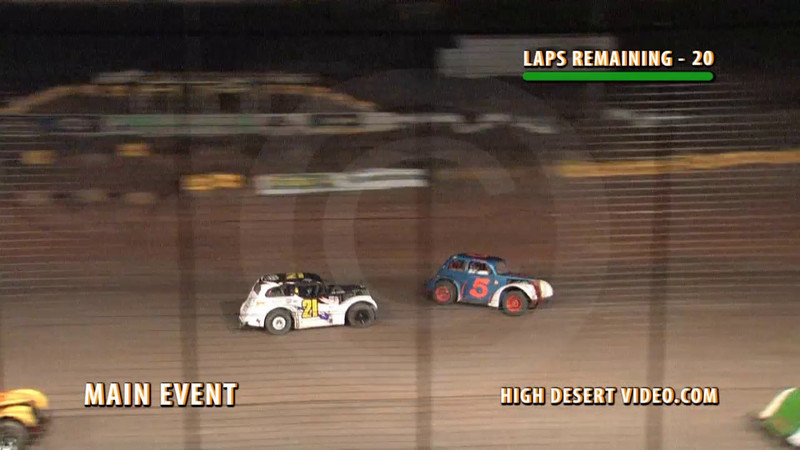Turn One at El Paso Speedway Park has not been good to the Legends class this season.  Just two weeks after Benjamin Garcia destroys his #12 Legend, Katrina Byers makes an unscheduled stop in the same corner.  Katrina was OK and she tells me her car can be repaired, so it seems her luck was a little better than Ben's.