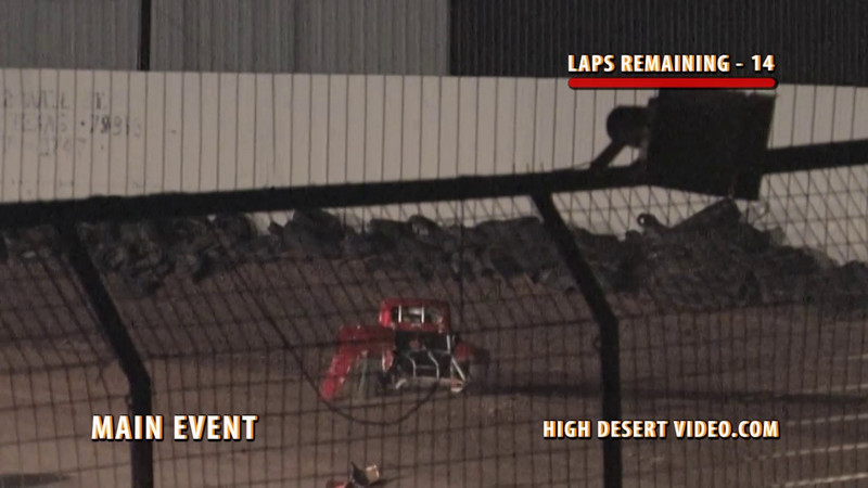 Benjamin Garcia, driving the #12 Legend, goes for a wild ride after making contact with #3D during the Legend Main Event at El Paso Speedway Park, May 14, 2010. Fortunately, Ben was able to walk away from the flip.