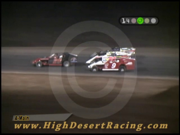 During the Southern New Mexico Speedway Modified Main event on 6/13/2009, the #131 of Royal Jones and the #44 of Christie Georges had a minor on-track exchange. Be sure to watch closely because you might miss it....