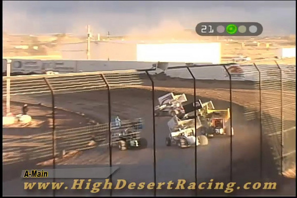 John Carney II laps all but two cars in the El Paso Speedway Park main event, Feb 8, 2009.