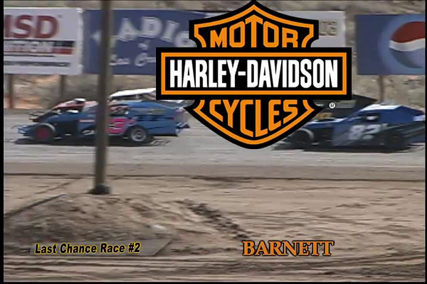 """This was the second of two Modified Last Chance Races during the 2010 Southern New Mexico Speedway Winter Meltdown. This annual three-day, $10,000 to win event attracts Modified drivers from all over the country. DVDs of all races during this even may be ordered from  <a href=""""http://www.HighDesertVideo.com"""">http://www.HighDesertVideo.com</a>."""