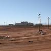 White Sands Speedway grandstand from turn three