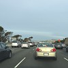 An Interstate 5 crash slowed us down.