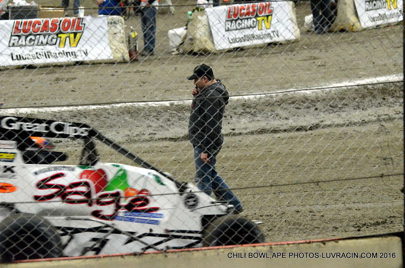 TONY STEWART ON TOP OF THE DIRT