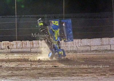 2017 8-5 Sprint car wreck, Lovelock Speedway