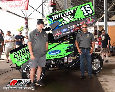Donny Schatz / Tony Stewart Racing Knoxville Nationals Paint Scheme Reveal - 8/7/18 - Paul Arch