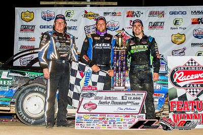 Scott Bloomquist (L), Jason Jameson (C) and Josh Richards (R)