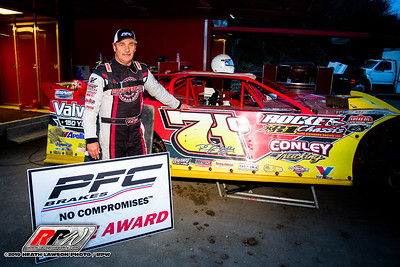 PFC Brakes Pole Award winner RJ Conley