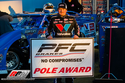 PFC Brakes Pole Award winner Brandon Sheppard